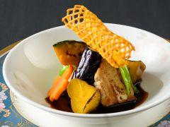 【楽味会席】選べる主菜・黒豚黒味噌釈迦ソース(※写真はイメージです。)