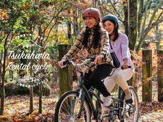 二人乗りタンデム自転車。大分では公道で楽しめます。塚原の自然と風景を自転車の速度でお楽しみください。