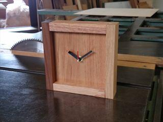伝統的な指物の技術を使った木製置き時計の製作【ふくのね】