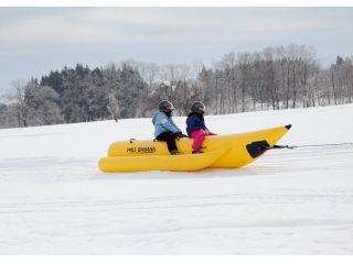 雪上のバナナボート!とっても楽しいんです♪