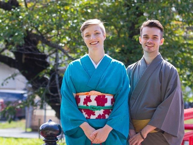 【道の駅 米沢】米沢織の着付け体験~二部式着物で上杉神社周辺を散策~