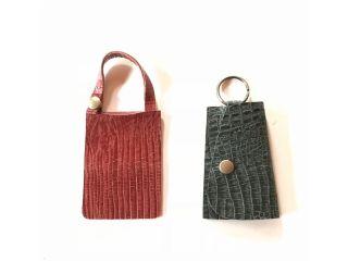 〈京都・八幡〉靴づくりの工房で 【革小物作り体験!※カラーはランダムです※〜パスケース、キーケース、コイン&カードケース〜お選び下さい】