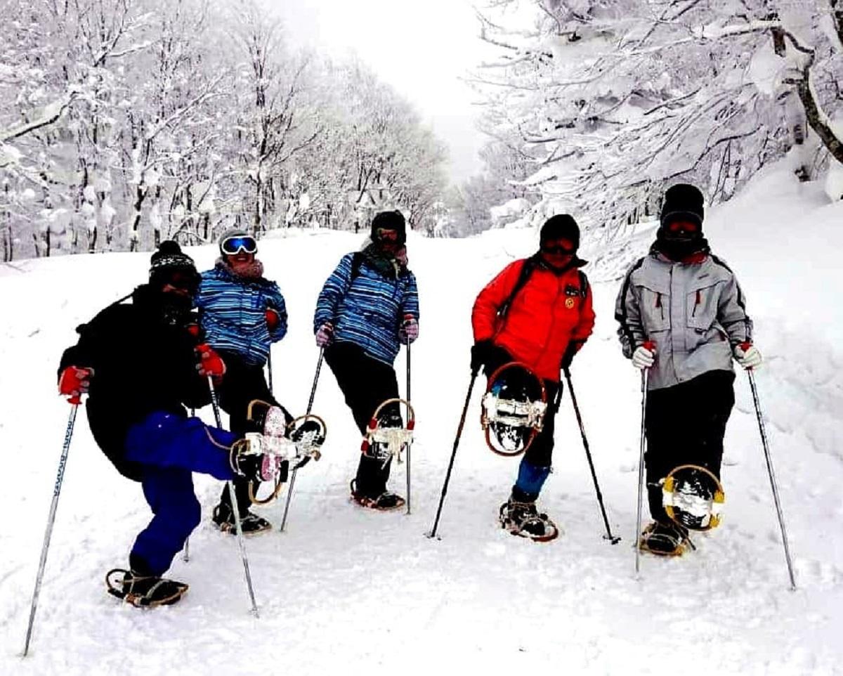 雪の足跡探検ウォーキング(初級コース)