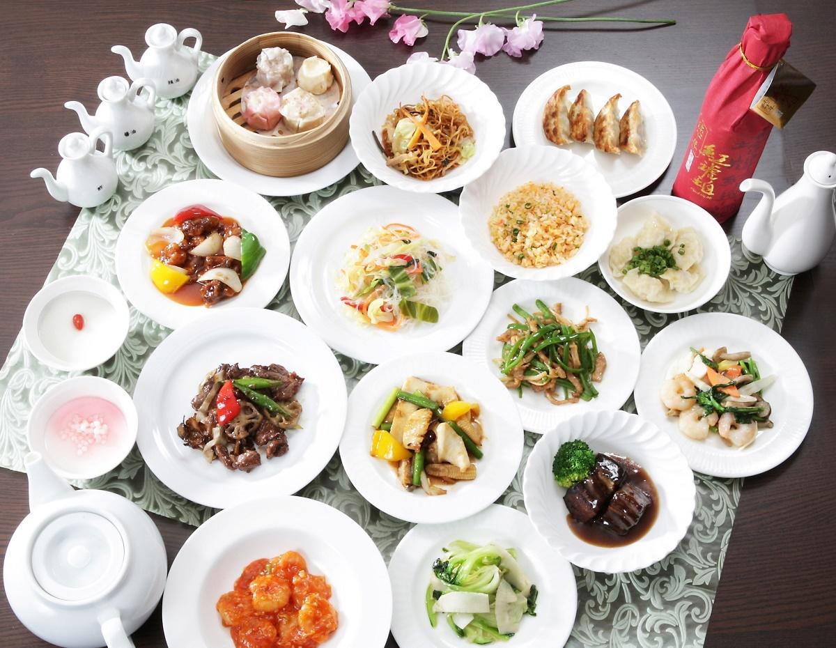 ディナーオーダーバイキング!30種類の本格中国料理が食べ放題!