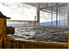 檜桶露天風呂(積雪時)