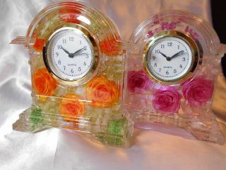 【オンライン体験】ご自宅で薔薇がたっぷりの華やかなハーバリウム時計作成!
