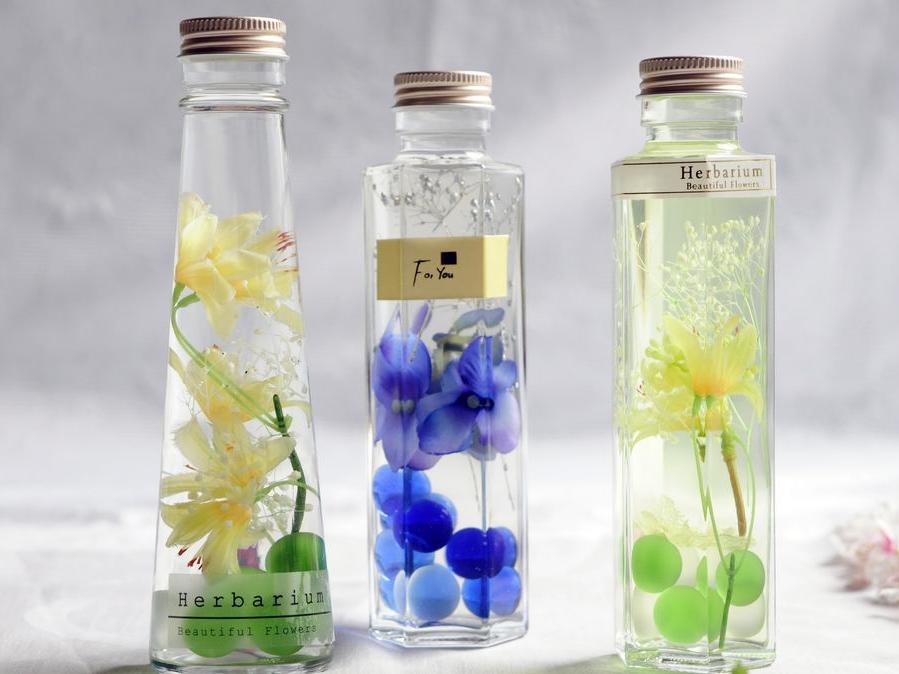 ※1組限定※【徳島・ハーバリウム】バレンタインにも喜ばれる、旬の花を使ったハーバ...