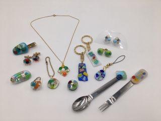 ガラスの大きさはそれぞれ異なります 金具は全15種類の中からお好きな物をお選びいただけます