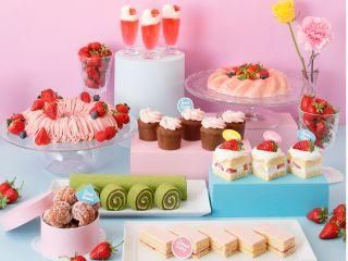 【ランチ&スイーツビュッフェ】『Sweets Buffet 〜Strawberry RETRO CAFE〜』座ったまま安心して楽しめるワゴンサービス&オーダービュッフェ形式!※感染症対策実施中※