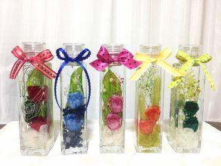 ハーバリウムボトル作成体験☆透明感あふれる新感覚インテリア☆