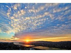 【空中庭園展望台】日本夕陽百選に選ばれた夕陽も見どころのひとつです!