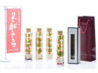 日本一の紅花産地「山形紅花」を使った当店オリジナルの紅花ハーバリウムを作りましょう!