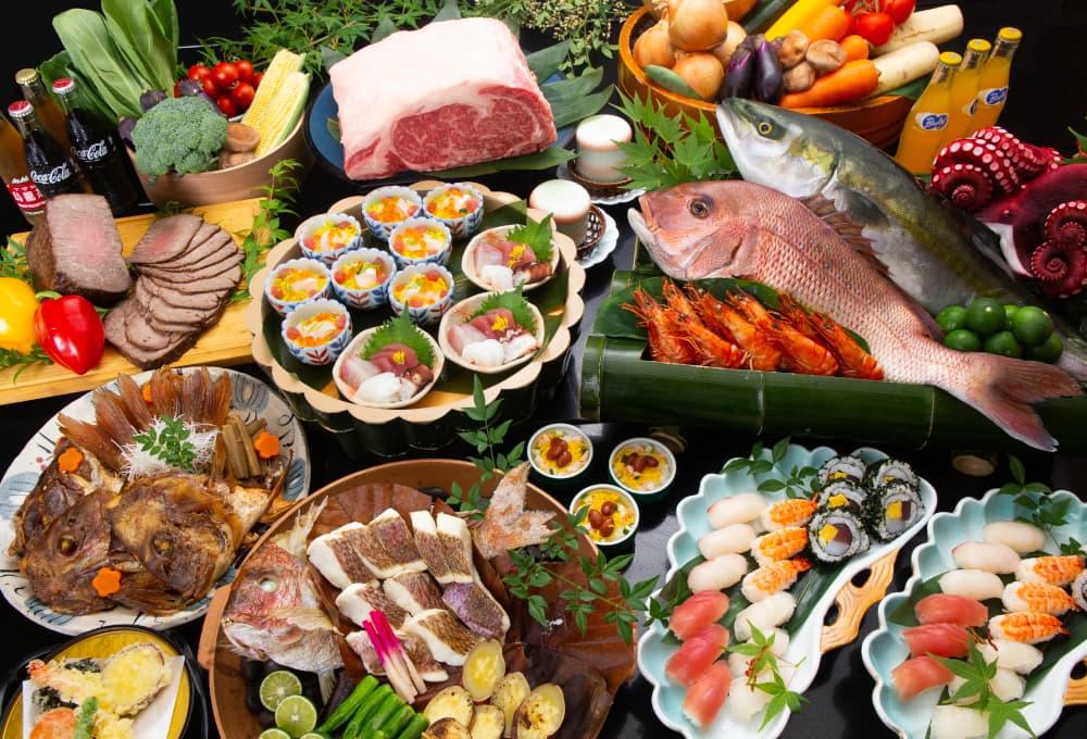 【ディナー】【土曜日限定】鳴門の粋を楽しむ!食材の宝庫・徳島でバイキングはいかが...