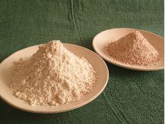 2種類の「スペルト小麦」をブレンドして麺を作ります