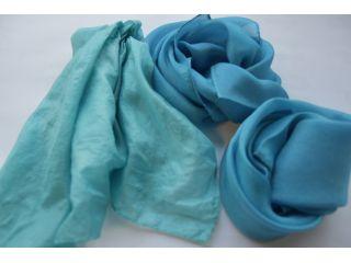 藍染とはまた違った色合いになります。お好みでお好きな水色に♪
