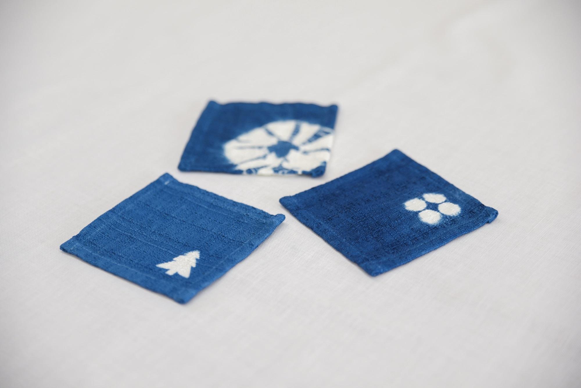 藍色のふるさと上板町で藍染体験コースター&新鮮な藍の生葉を使った生葉染め体験