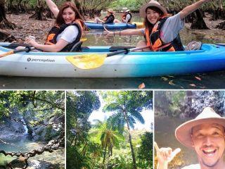 世界遺産候補・奄美大島の日本で二番目に大きなマングローブ原生林を約2時間のんびり楽しくカヌーで冒険!貸切~少人数制で人気のマングローブトンネルなど写真撮影!