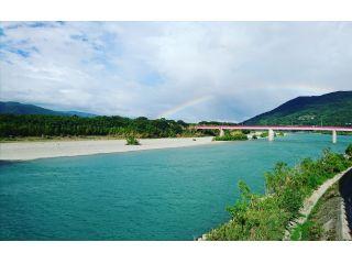 吉野川に架かる虹の橋。