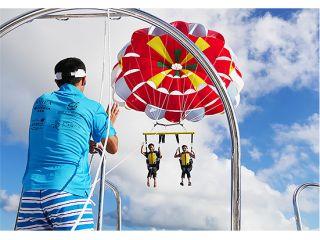 【沖縄 宮古島】【海上100m以上の感動の空中散歩♪】大人気パラセーリング!