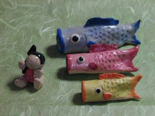 型紙で作った鯉のぼり
