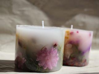 \お茶菓子付き♪/自分で選んだお花で華やかに☆ボタニカルキャンドル作り