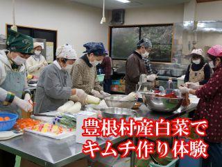 11月22日(日)豊根村産白菜でキムチ作り体験