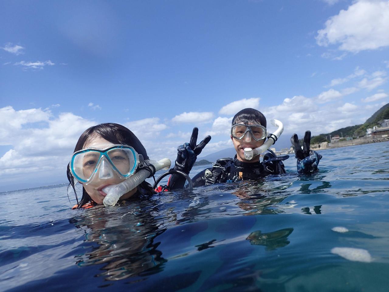 【初めての方大歓迎☆体験ダイビング】◆\安全第一で2ダイブ/海のきれいな伊豆で潜...