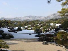 冬の「枯山水庭」