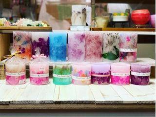 【沖縄・与那原】お気に入りのお花と香りで◎ボタニカルアロマキャンドル制作体験◎女性におすすめ