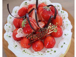 いちごのショートケーキ♪お誕生日やアニバーサリーのケーキのデコレーションレッス。(※これまでのメニューの一例です。メニューは季節により変わります。)