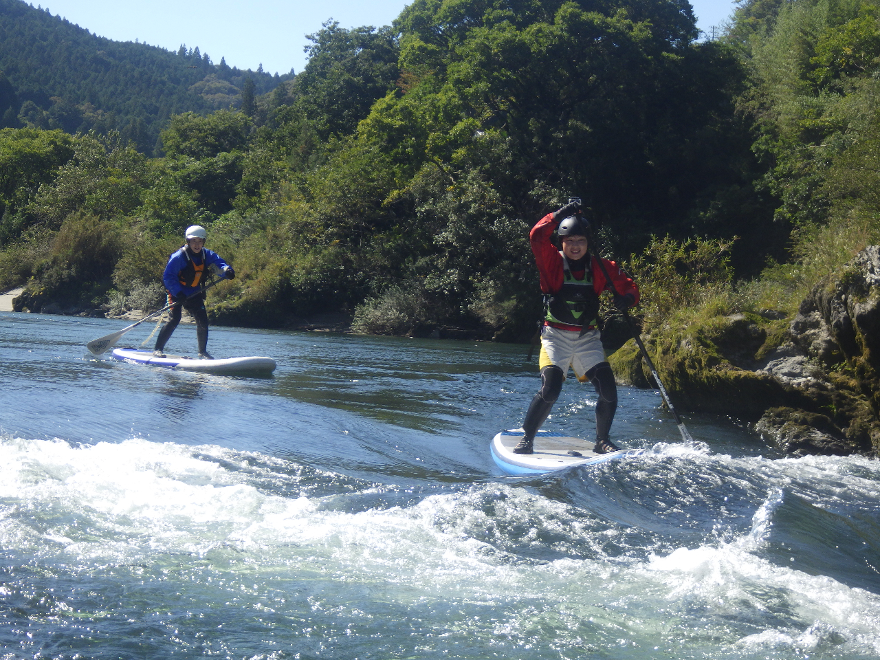 ◆SUP体験◆誰でも気軽に川や海を楽しめます!<半日流水コース>激しい流水にもチ...
