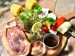 ■TFG BBQセット■こだわりのお肉と地元で採れた新鮮な野菜が楽しめるBBQコース!