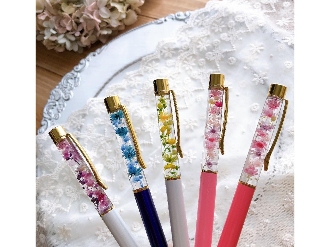 【和歌山県在住の方限定】\*お花のボールペン作り*/本体の色から中身も全て自由に...