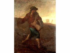 ジャン=フランソワ・ミレー《種をまく人》1850年 山梨県立美術館所蔵