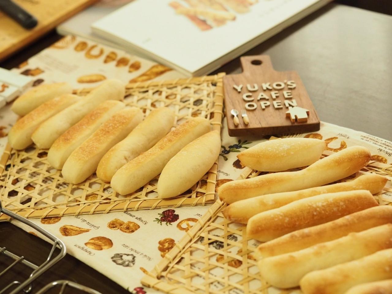 【*おうちパン体験レッスン*】<ミルクスティックパン>たった5分こねるだけでステ...